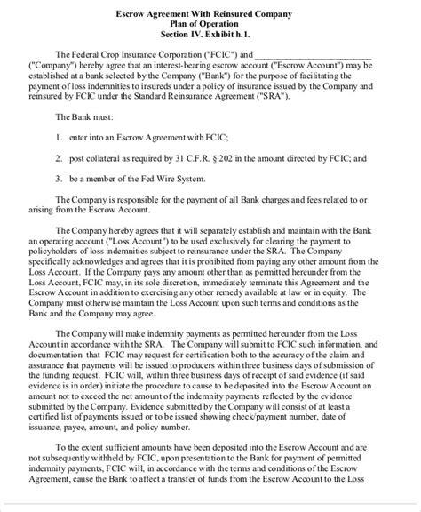 escrow agreement templates  word  google