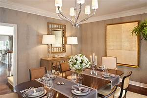 table runner ideas Dining Room Transitional with large