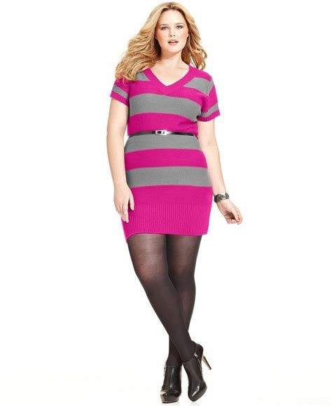 plus size sweaters touch plus size sleeve striped sweater dress