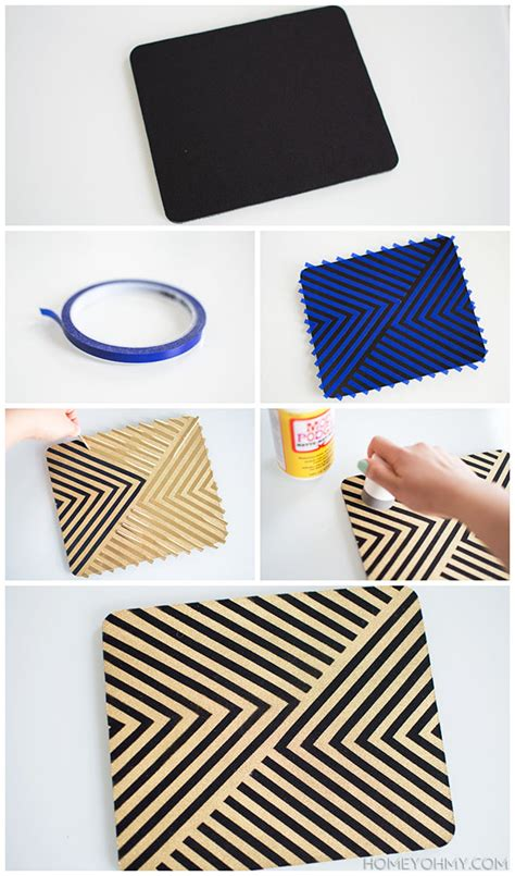 diy gold mouse pad homey