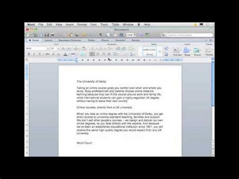 word processing adding a word count