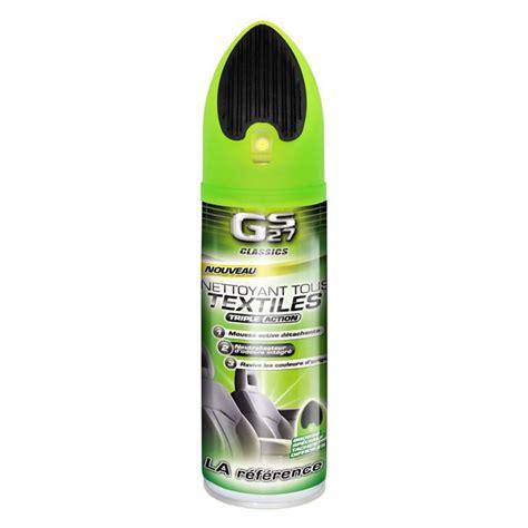 nettoyer tissu siege voiture nettoyant tissus et brosse gs27 400 ml feu vert