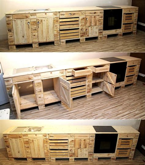 kitchen cabinets made out of pallets creative pallet recycling ideas by s palettenm 246 bel 9165