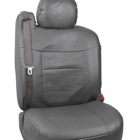 Charcoal Gray Pu Leather Seat Covers Luxury For Builtin