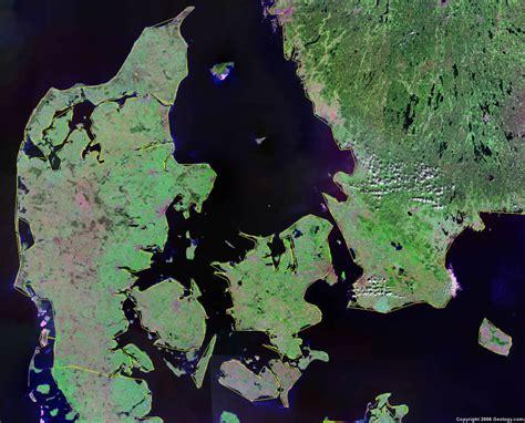 denmark map  satellite image
