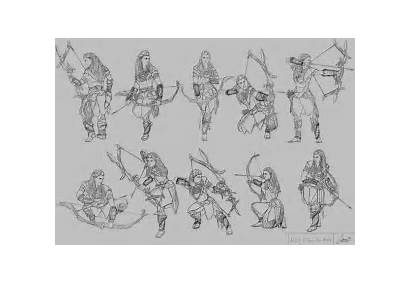 Poses Character Aloy Stage Horizon Drawing Zero