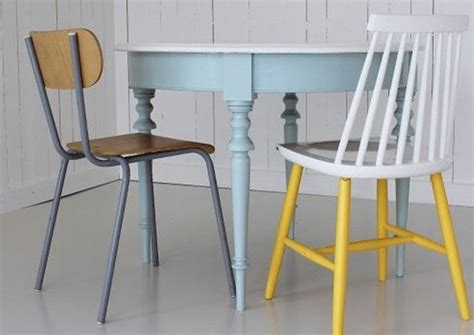 peinture pour table de cuisine 5 idées pour repeindre une table joli place