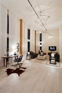 Kitchen Floating Island White Washed Wood Floors Living Room Eclectic With Accent Columns Cowhide Rug Beeyoutifullife