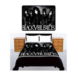 black veil brides american rock band bedding large size 60x 80 fleece throw blanket brand new