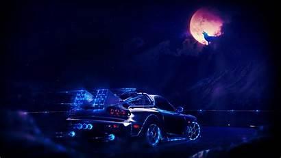 Neon Wolf Moon Wallpapers Desktop Backgrounds Mobile