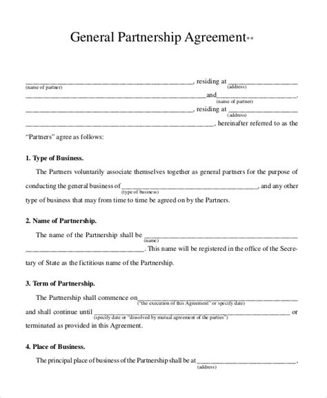 sample business contract templates word docs