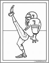 Football Coloring Pages Goal Kick Pdf American Ad Colorwithfuzzy sketch template