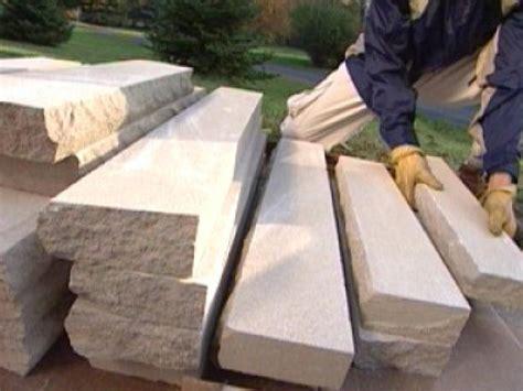 build stone pillars  tos diy