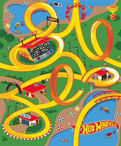 hot wheels canvas panel multi riley blake designs