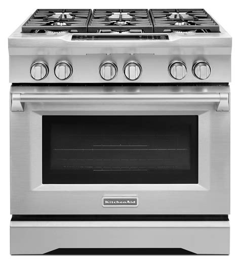 Kitchen Aid Gas Range by 36 Inch 6 Burner Dual Fuel Freestanding Range Commercial