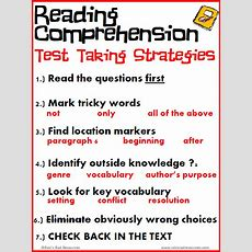 Free Reading Comprehension Test Taking Strategies Posters  Lesson Planning Reading