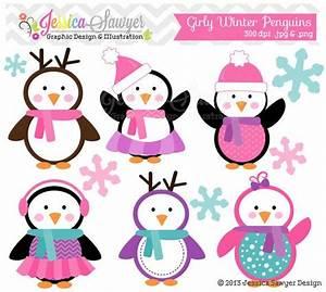 Girls Penguin Clipart , winter baby shower, winter ...