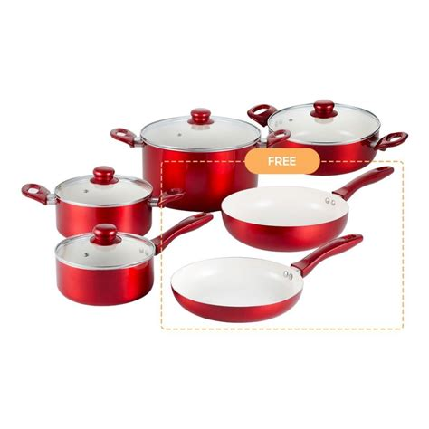 pots pans ilo pan pot oshopping cherry sets blender ph attractive making kitchen hand stove induction