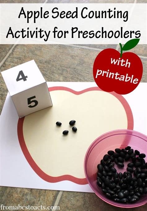 apple seed counting preschool math activity back to 494 | bfc65cead7a9b0d0cd2217504e1a85b8