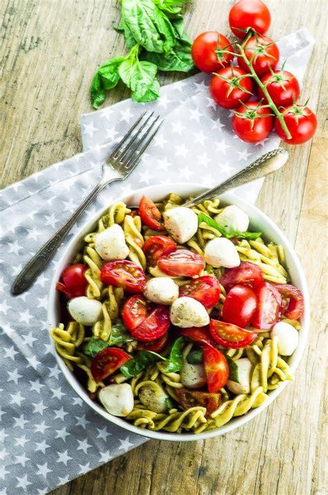 high protein caprese pasta salad     recipe