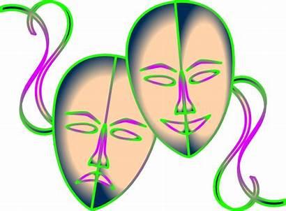 Masks Mask Theatre Clipart Clip Theater Drama