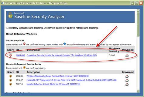 Why Should Windows Shops Use Microsoft Baseline Security Analyzer?