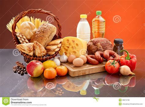 Daily Food Set. Royalty Free Stock Photos   Image: 36874198