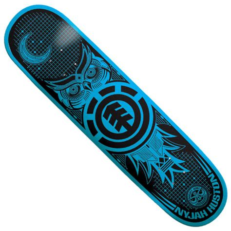 Nyjah Huston Owl Deck by Element Nyjah Huston Owl Stealth Deck In Stock At Spot