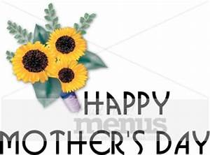 Sunflowers and Happy Mother's Day | Holiday Clipart Archive
