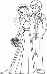 Free Coloring Pages Of Groom And Bride