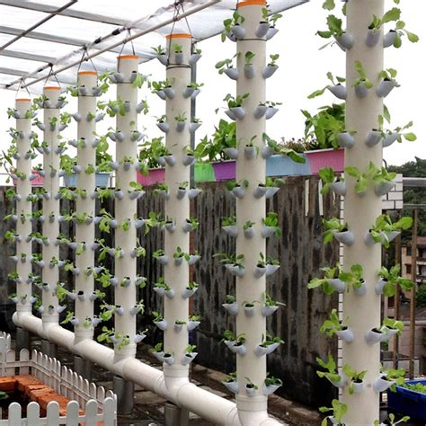 Vertical Hydroponic Gardening by Dwc Hydroponics Vertical Tower Gardern Growing System