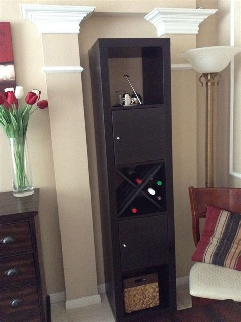 ikea hack expedit wine rack