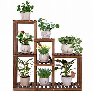 Wooden, Plant, Stand, Flowers, Shelf, Multi