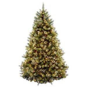 pre lit artificial christmas trees from home depot holiday decor