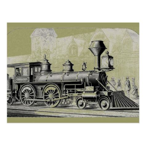 Antique American Locomotive Steam Engine Postcard Zazzle