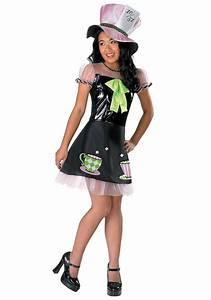 Girls Tea Time Mad Hatter Costume
