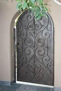 Porte, d'entrée, en, fer, forgé, porte, en, fer, porte, en ...