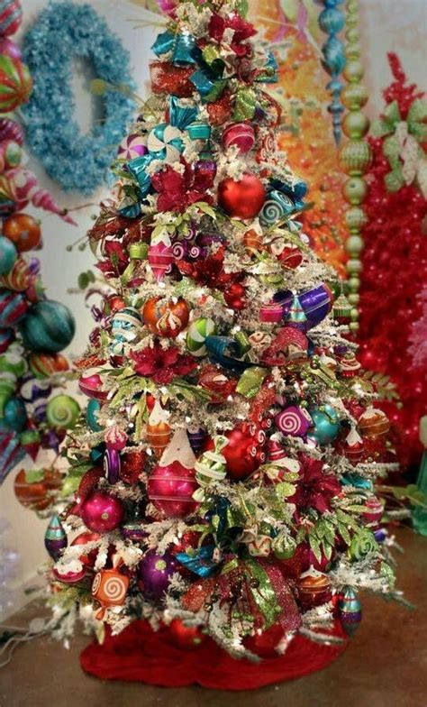 colorful christmas tree decor ideas shelterness