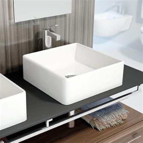 vasque cuisine à poser vasque à poser carrée 38x38 cm céramique vigo