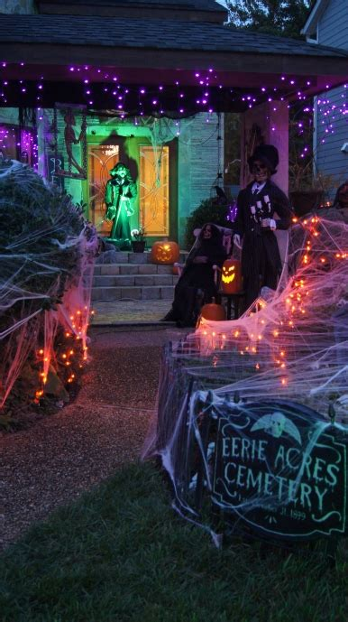 halloween decorations spiders web  spook