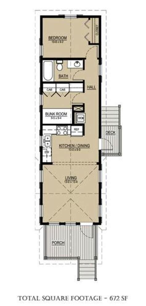 cottage style house plan  beds  baths  sqft plan   narrow house plans container
