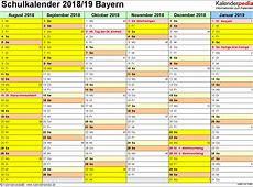 Schulkalender 20182019 Bayern für PDF