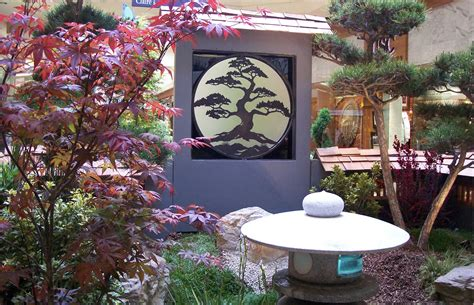 small japanese garden patio traditional  potted plants