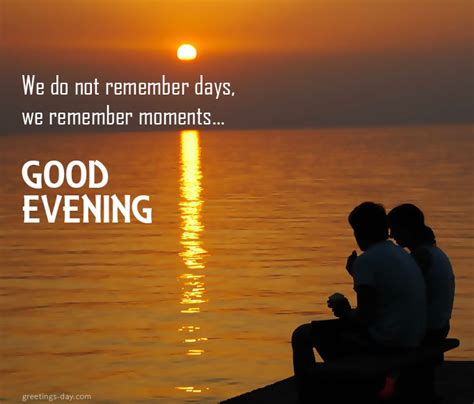 good evening qoutes sayings  pictures