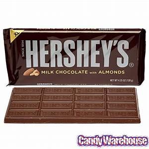 Hershey's Milk Chocolate with Almonds 4.25-Ounce Jumbo ...