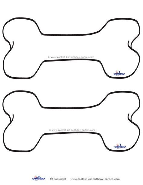 blank printable dog bone invitations coolest