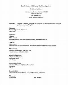 10 high school resume templates free samples examples With free high school resume samples