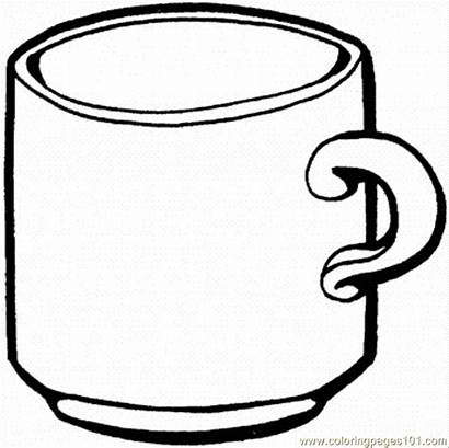 Coffee Coloring Cup Printable Pdf Coloringpages101 Kitchenware