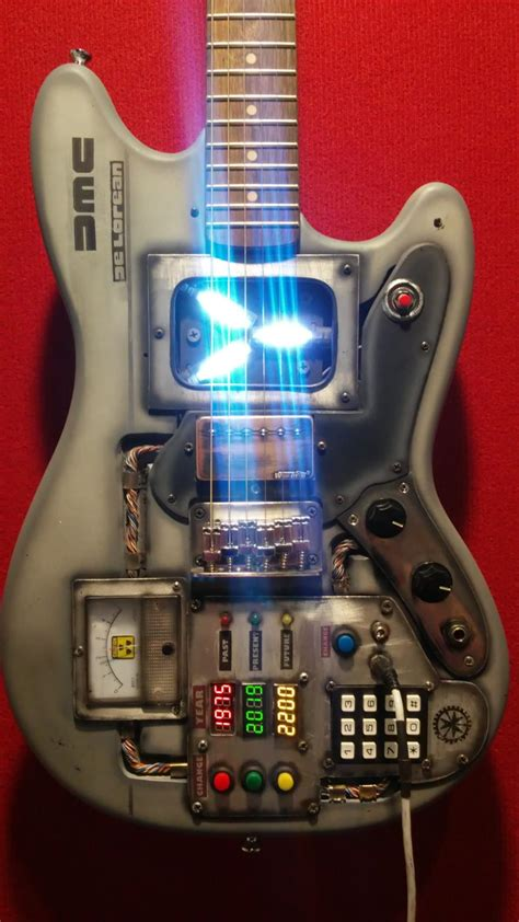 future custom delorean guitars fender guitar mustang electric crazy unique reverb