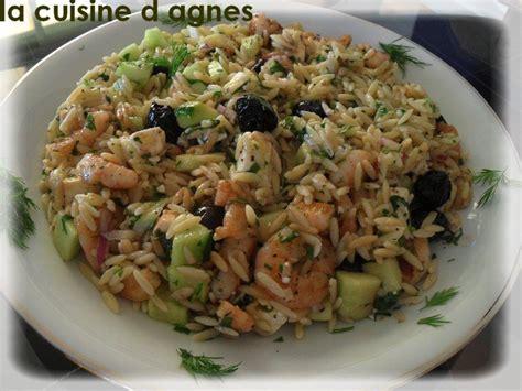 recette cuisine grecque salade de risoni aux crevettes grillées à la grecque la